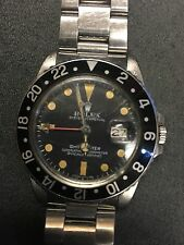 Rolex GMT RARE Patina Dial, Unpolished Original Scratches 16750 Rolex SWISS 1979