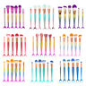 10PCS Kabuki Make up Brushes Set Eyeshadow Foundation Face Powder Blusher Brush