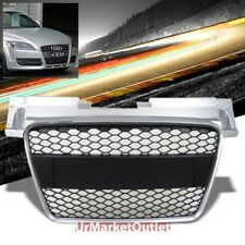 Silver Frame/Black Honeycomb Mesh RS Style Front Grille For 06-10 TT MK2 Type-8J