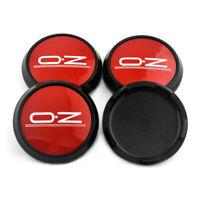 4x 68mm OZ Racing Aluminium Rot Felgendeckel Nabendeckel M673 für OZ Leggera-HLT