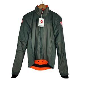 Castelli Elemento Lite Cycling Jacket Mens Forest Gray sz M Mountain Biking Coat