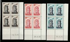 LUXEMBOURG / EUROPA 1956 / LOT DE TIMBRES NEUFS ** EN BLOC DE 4 / COIN DATÉ