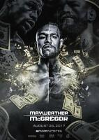 CONOR MCGREGOR V FLOYD MAYWEATHER FIGHT POSTER Boxing UFC Poster A4 A3