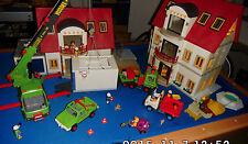 Playmobil XXL 3x Wohnhaus 4279, Neubaugebiet/Licht/2x Garage/Wintergarten usw.