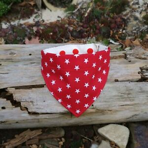 Hundehalstuch Sterne rot Gr. XS - XXL Bandana verstellbar PfötchenZone
