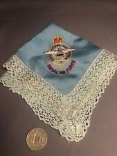 Vintage RCAF Military Handkerchief Napkin  Royal Canadian Air Force embroidered