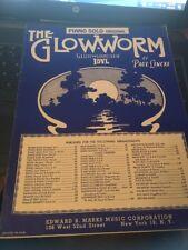 """Vtg Sheet Music: THE Glow- Worm """"Gluhwurmchen!!!"""" Piano Solo Original 1930"""