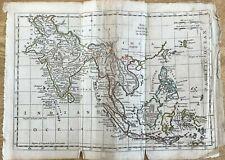 ANTIQUE MAP ASIA THOMAS KITCHEN C1785 GENERAL ATLAS OUTLINE COLOUR INDIA BORNEO