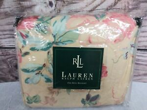 NEW RALPH LAUREN GRASSLAND FLORAL KING RUFFLED BED SKIRT COUNTRY COTTAGE
