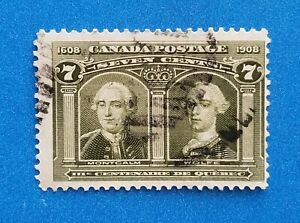 Canada stamp Scott #100 used with nice light postmark. Good olive green colors.