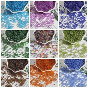 500Pcs 2/3/4mm Glass Loose Beads DIY For Jewelry Making Necklace Bracelet