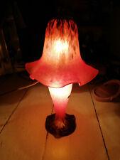 Original BACCARAT Pate de Verre Tischlampe Sehr selten -Wunderschönes Licht!!!!