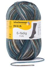 7,90€//100g Regia 4fädig 50g Sockenwolle maschinenwaschbar Fb 02137 jeans meliert