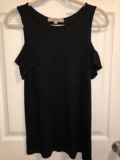 Ann Taylor LOFT Women's Cold Shoulder Short Sleeve Tee Shirt 100% Cotton Size XS