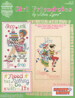 Alma Lynne Girl Friend-zies Shopping Cross Stitch Pattern