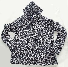 Fleece Leopard Pullover Kapuze Thermo Gr.M 40/42