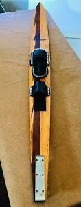 """Maherajah Water Ski 68"""" Gorgeous Vintage Wood Inlay W/ Vinyl Case"""