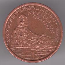 ISOLA di Man 1p Penny 2000 AA (IPOTECA per l'acquisto) placcato rame acciaio Coin-keeill MANX Cappella