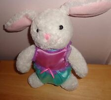 PLUSH HALLMARK SNUGGLE BUNNY RABBIT EASTER STUFFED ANIMAL TOY WHITE PINK EARS