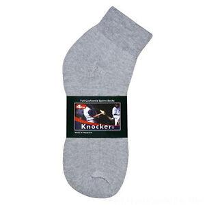 4, 12 Pairs Men's Thick Sports Cotton Ankle Socks Size 10-13 White Black