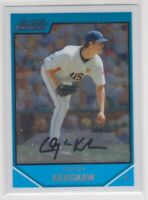 2007 Bowman Chrome Draft Baseball Clayton Kershaw Baseball Rookie Card # BDPP77