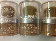 4 X L'Oreal Bare Naturale Mineral Makeup - COCOA 472 NEW