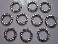 16 Pc Antiguo De Plata Tibetana vincular Anillos Conectores Ronda 19x2mm