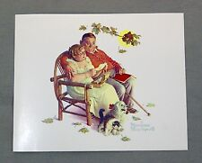 Vintage 1970's Norman Rockwell Fondly Do We Remember Four Seasons Series Print 1