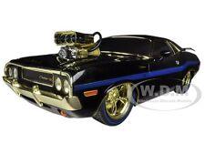 """Chase Car"" 1970 DODGE CHALLENGER R/T 75TH MOPAR ANNIVERSARY BLACK 1/18 M2 91165"
