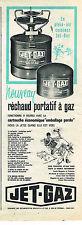 PUBLICITE ADVERTISING   1961   JET-GAZ   réchaud portatif