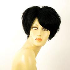 perruque femme 100% cheveux naturel courte noir ref NAOMIE 1b