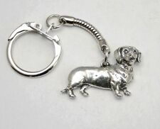 Dachshund Dog Key-ring (keychain) in Fine English Pewter, Handmade, Keyring