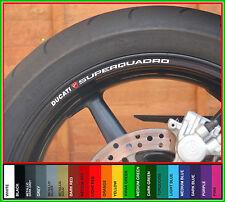 8x DUCATI SUPERQUADRO Wheel Rim Decals Stickers - super quadro 999 996 749 916