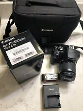Canon EOS Rebel T6 with 18-55mm Lens and Brand New EF 75-300mm Zoom Lens