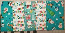 5 fat quarters - Merry Christmas -100% Cotton,