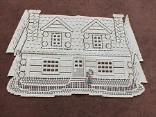 Collectible Beautiful Heritage Lace Table Linen House Mail Box Appl White 13x19