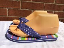 Montego Bay Club   NWT Woman's purple/striped  Flip Flops Size M 3/4