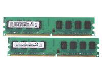 4GB 2X 2 GB PC2-6400 DDR2 800 Dual Channel 240pin DIMM Desktop Memory RAM intel