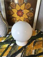 Vintage Habitat White/Opaline Glass Globe Ceiling Light #3385