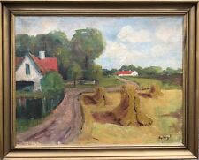 EMIL DYBERG PETERSEN (DANISH 1908-1973) SOMMERLANDSCHAFT MIT HEUHOCKEN