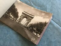 Antique French Postcards Book of 12 Scalloped Edges Paris WWII Era Guy Series 2
