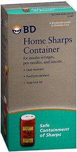 BD Home SHARPS Container 1.4 QT ( holds up to 100 insulin syringes )