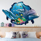 New Dolphin 3d Vivid Window Wall Stickers Diy Bedroom Home Decoration Posteutna