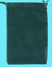 Chessex LARGE GREEN DICE BAG 5x7 SUEDE Drawstring Storage Pouch Velour Cloth RPG
