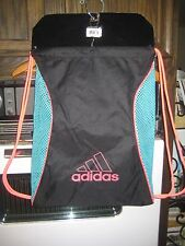 Adidas Blockmesh Sackpack Black/Neon Green Gym Bag Backpack 5123760 NWT