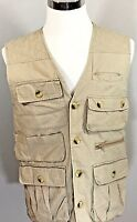 ORVIS Fly Fishing Hunting Photography Outdoor Tan 9 Pocket Guide Vest Mens Sz S