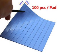 Blue Thermal Pad CPU Heatsink Cooling Conductive Silicone 10mm*10mm*1mm x100Pcs
