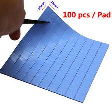 Blue Thermal Pad CPU Heatsink Cooling Conductive Silicone 10mm*10mm*1mm x100Pcs
