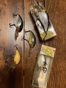 Lot Of 5 Vintage Rebel Crankbait Wee R Fishing Lures Nice!