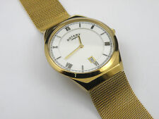 Gents Rotary Gold Slimline Mesh Bracelet GB02613/03 Watch - 100m